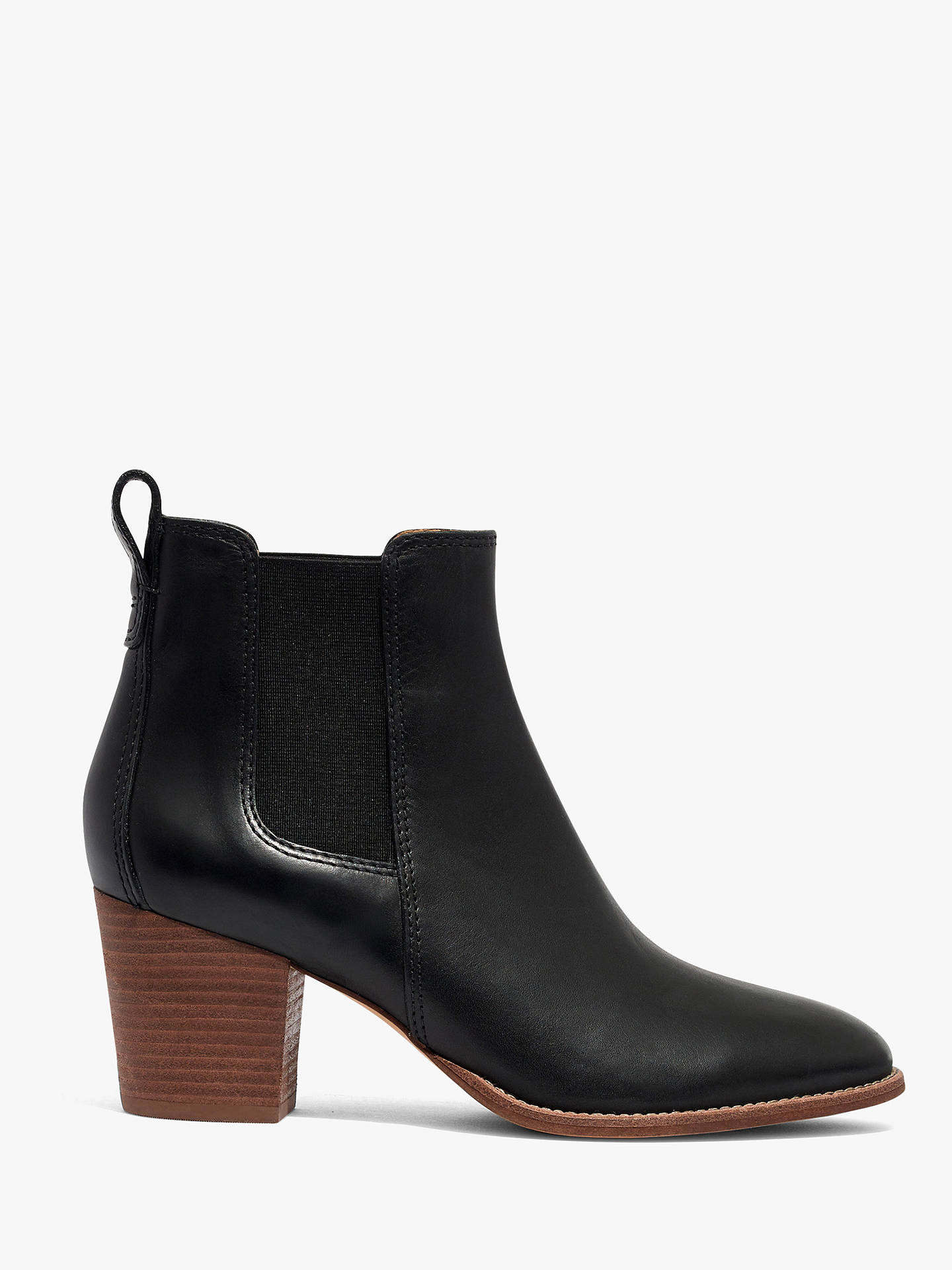 8f075e3db Buy Madewell Regan Leather Chelsea Ankle Boots, True Black, 3.5 Online at  johnlewis.