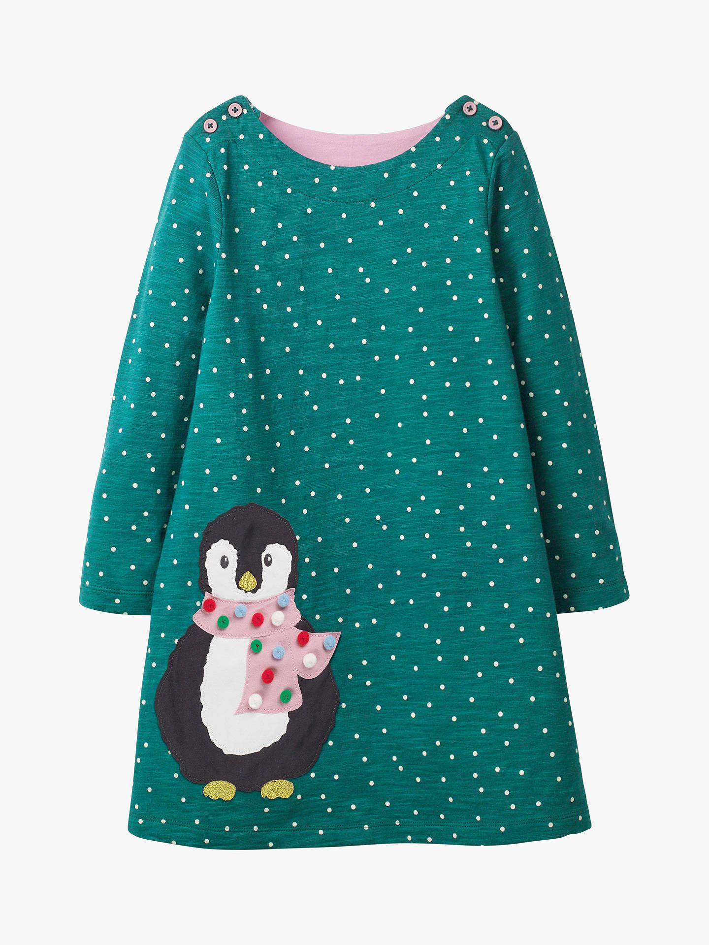 7ead9b169752 Mini Boden Girls  Snowy Friends Applique Dress
