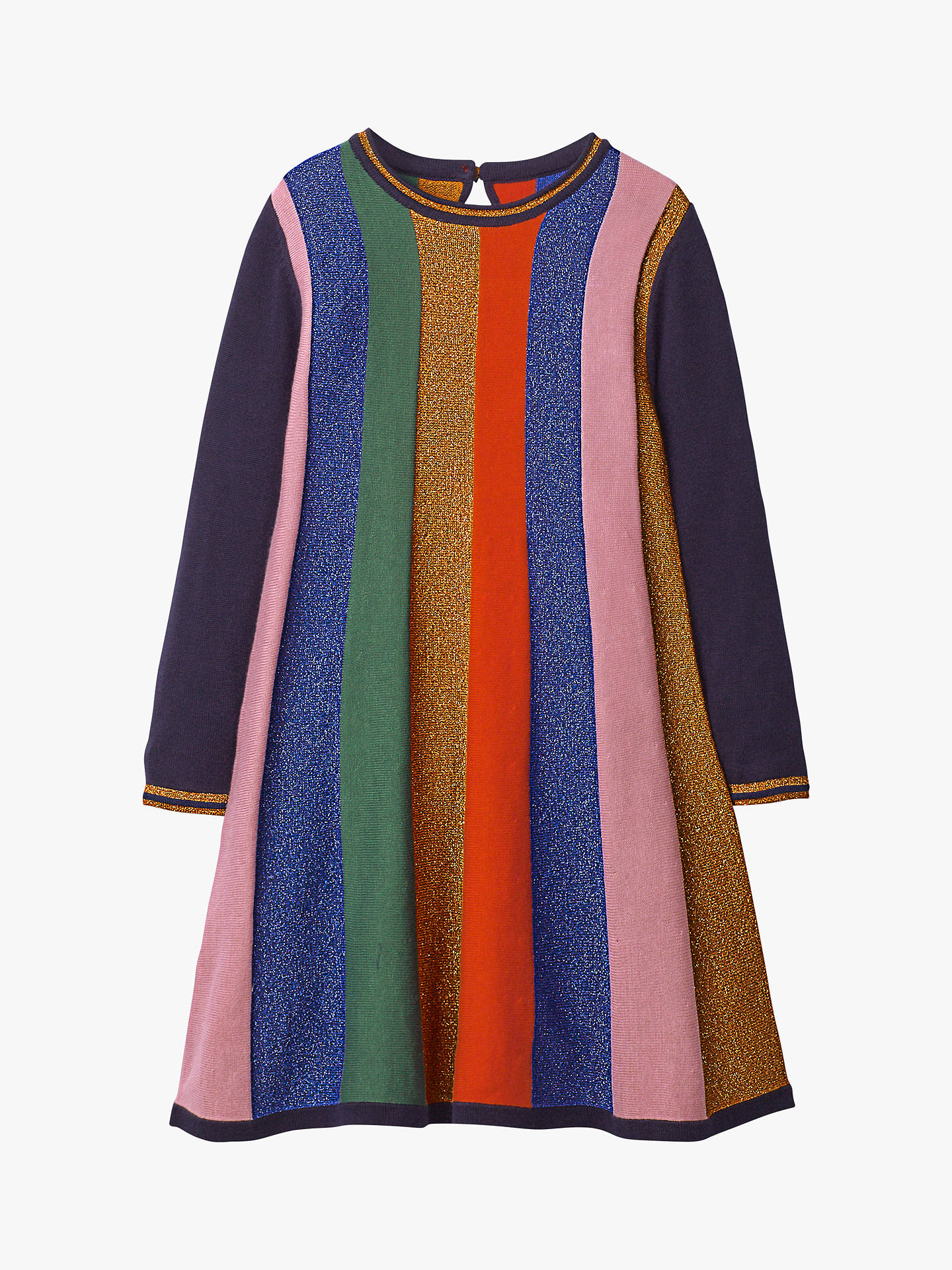 strategy Tactile sense make you annoyed  Mini Boden Girls' Sparkly Stripe Knitted Dress, Rainbow at John Lewis &  Partners