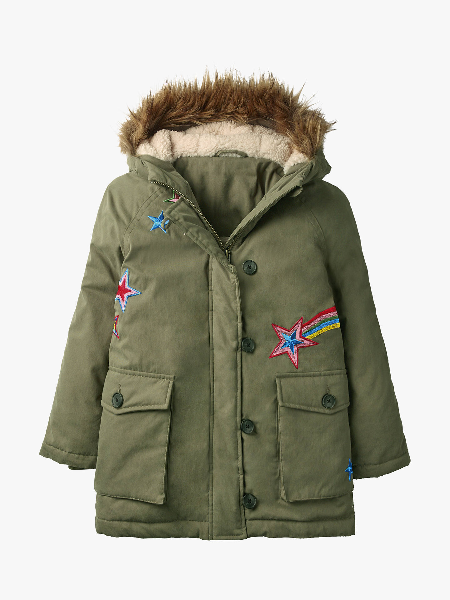 1055acc91 Mini Boden Girls  Shooting Star Cosy Parka Coat