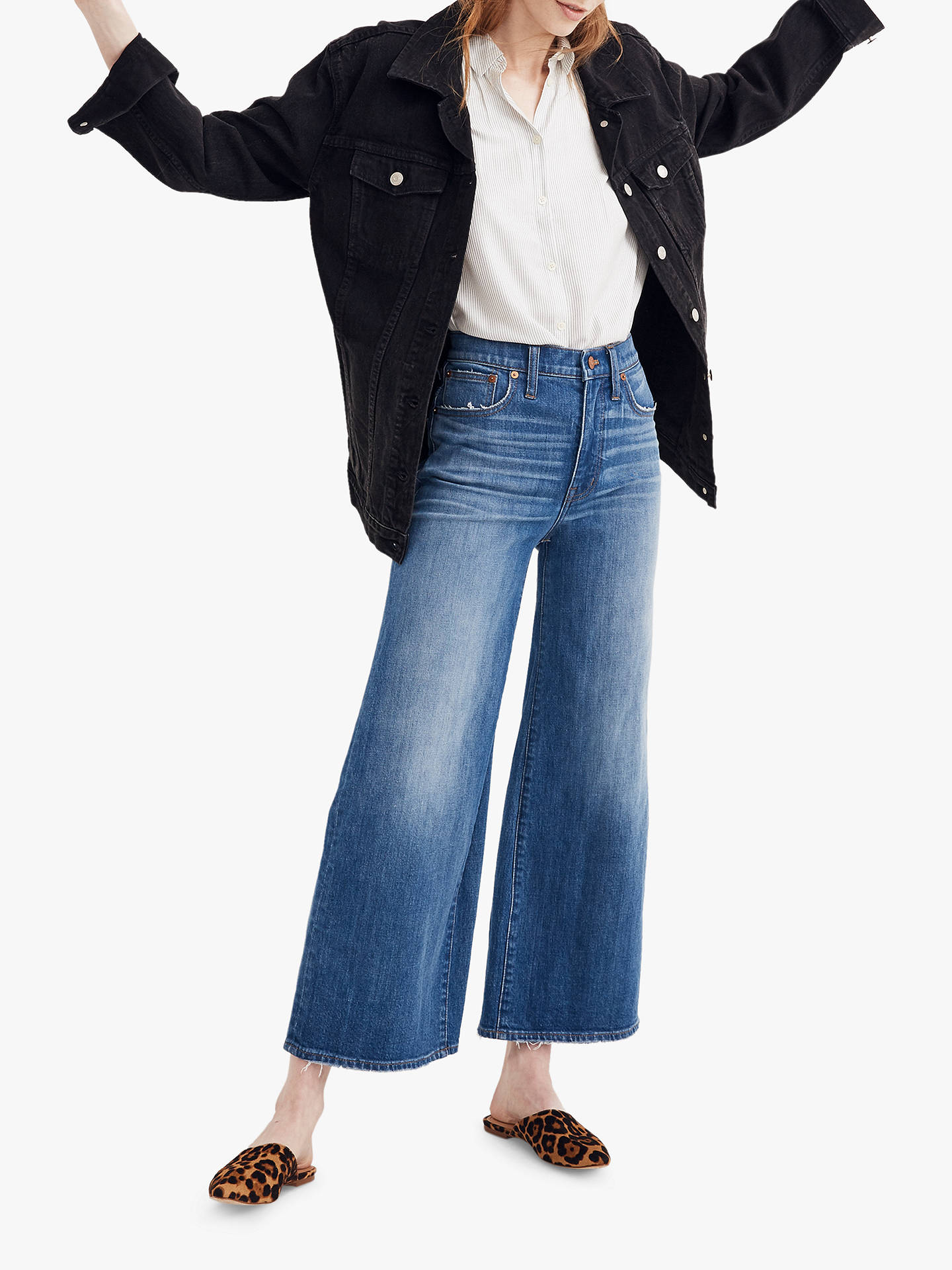 a3e05d57f Buy Madewell Wide Leg Crop Jeans, Finney Wash Denim, 29 Online at johnlewis.