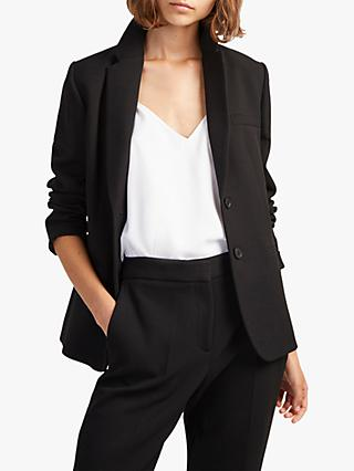 French Connection Single Breasted Whisper Fitted Blazer, Black