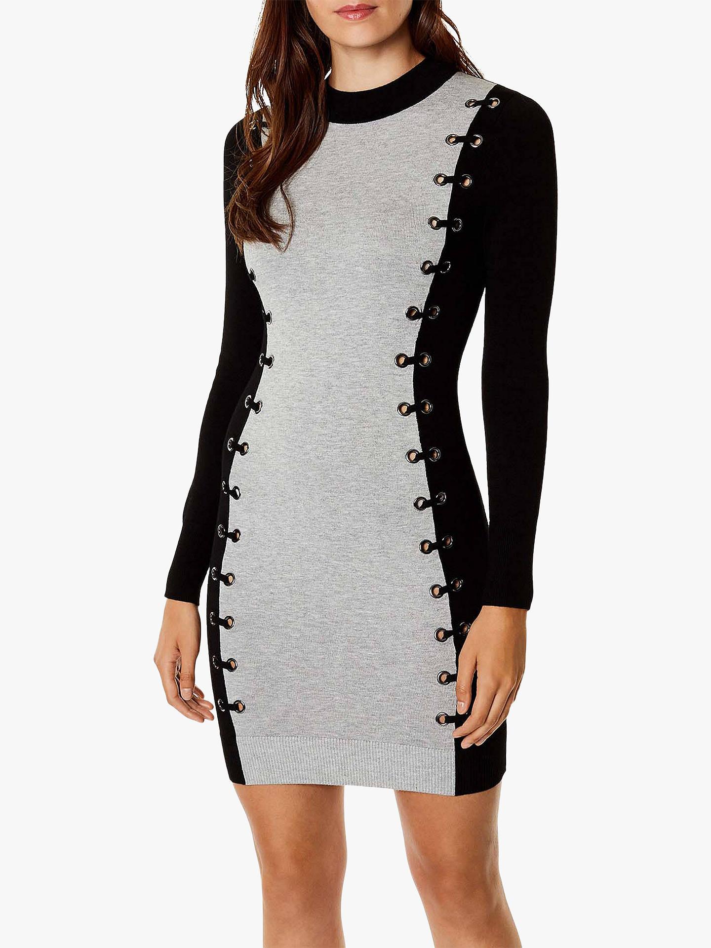 72c84d55701d Buy Karen Millen Eyelet Pencil Dress, Black, XS Online at johnlewis.com ...