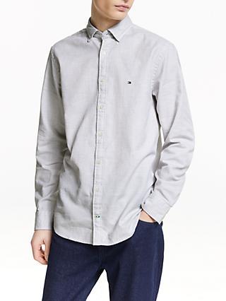 Tommy Hilfiger Twisted Yarn Dobby Shirt, Cloud Heather 97b7a2b519