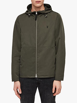 Buy AllSaints Darley Jacket, Shadow Khaki Green, XS Online at johnlewis.com