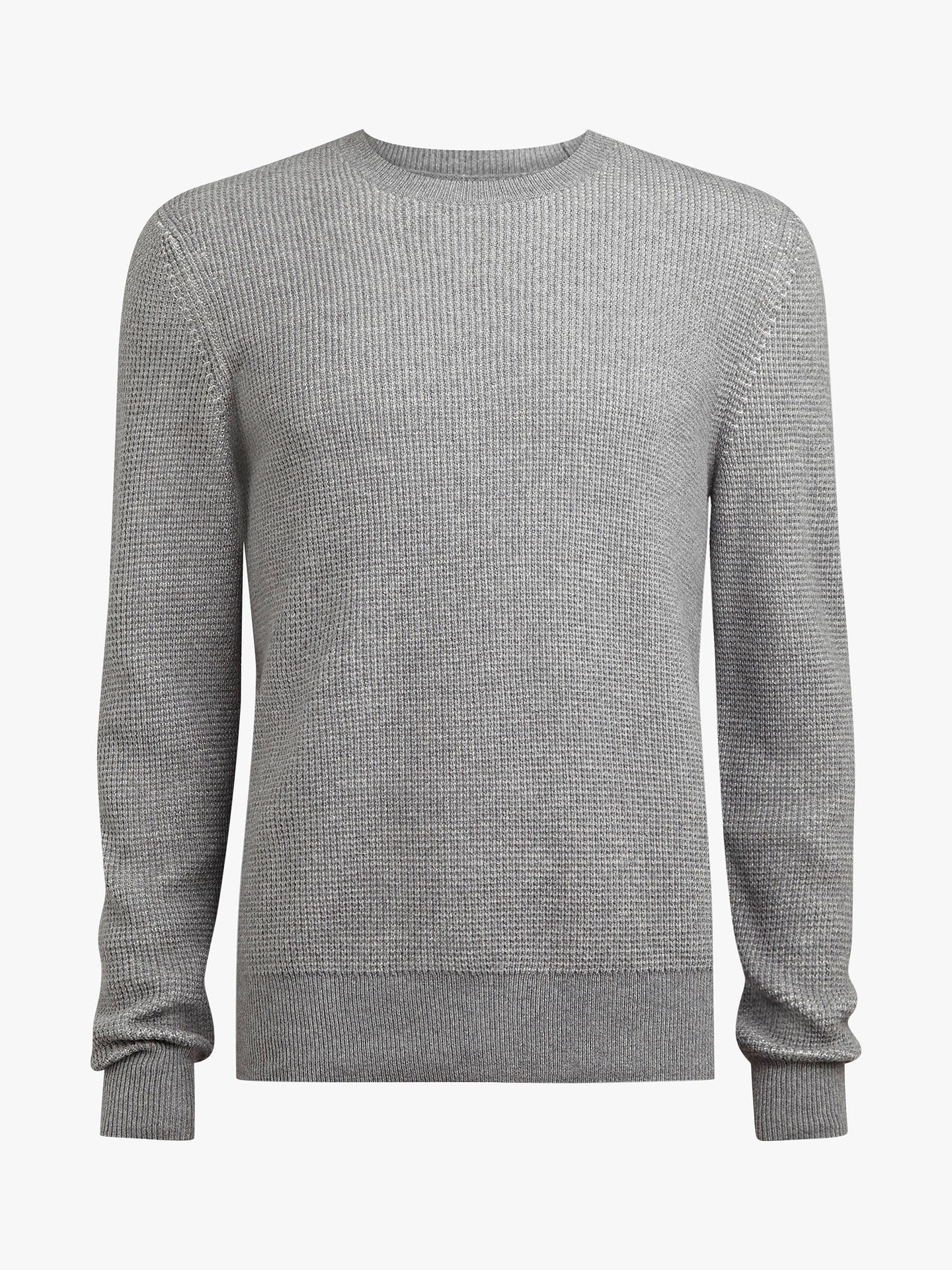 Buy AllSaints Natan Crew Jumper, Grey Marl, L Online at johnlewis.com