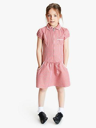 John Lewis & Partners School Gingham A-Line Summer Dress