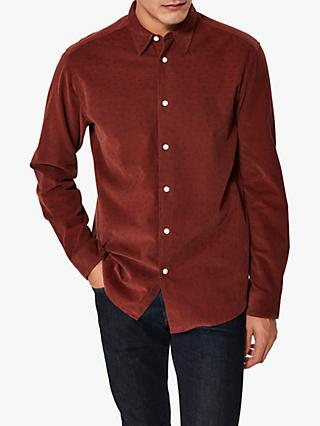 SELECTED HOMME Grayson Printed Cord Shirt, Sable AOP