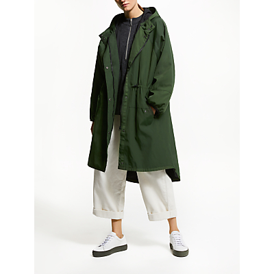 Kin Longline Parka Coat, Khaki