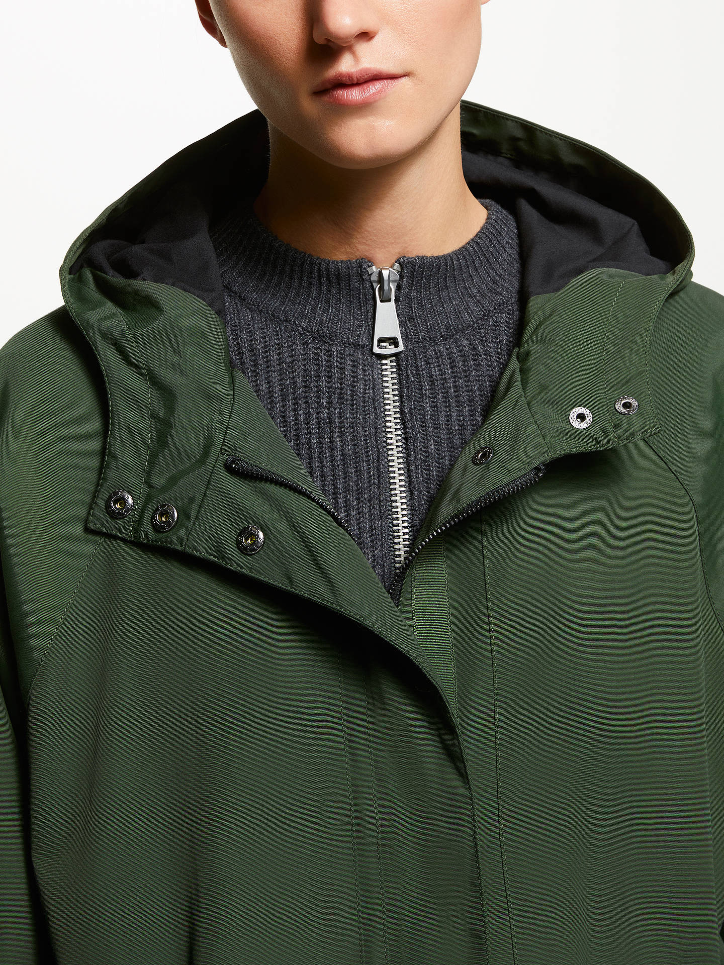 Buy Kin Longline Parka Coat, Khaki, M Online at johnlewis.com
