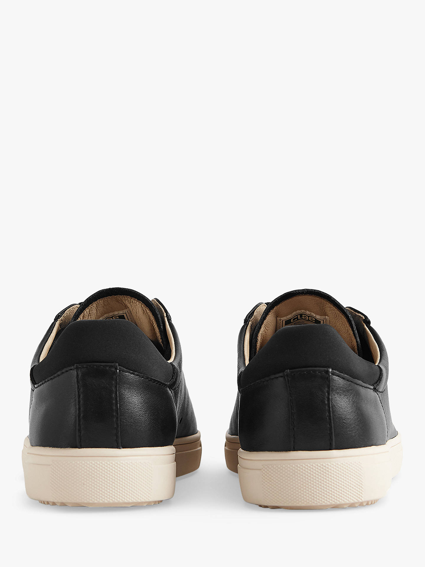 Buy Reiss Bradley Clae Leather Trainers, Black, 7 Online at johnlewis.com