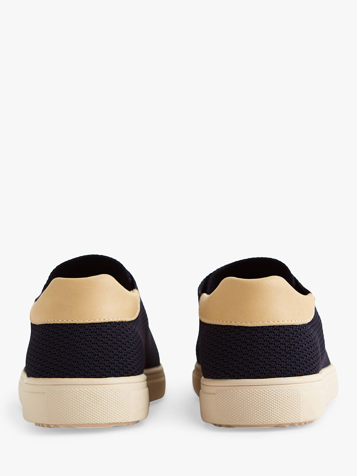 Buy Reiss Bradley Clae Knitted Trainers, Navy, 7 Online at johnlewis.com