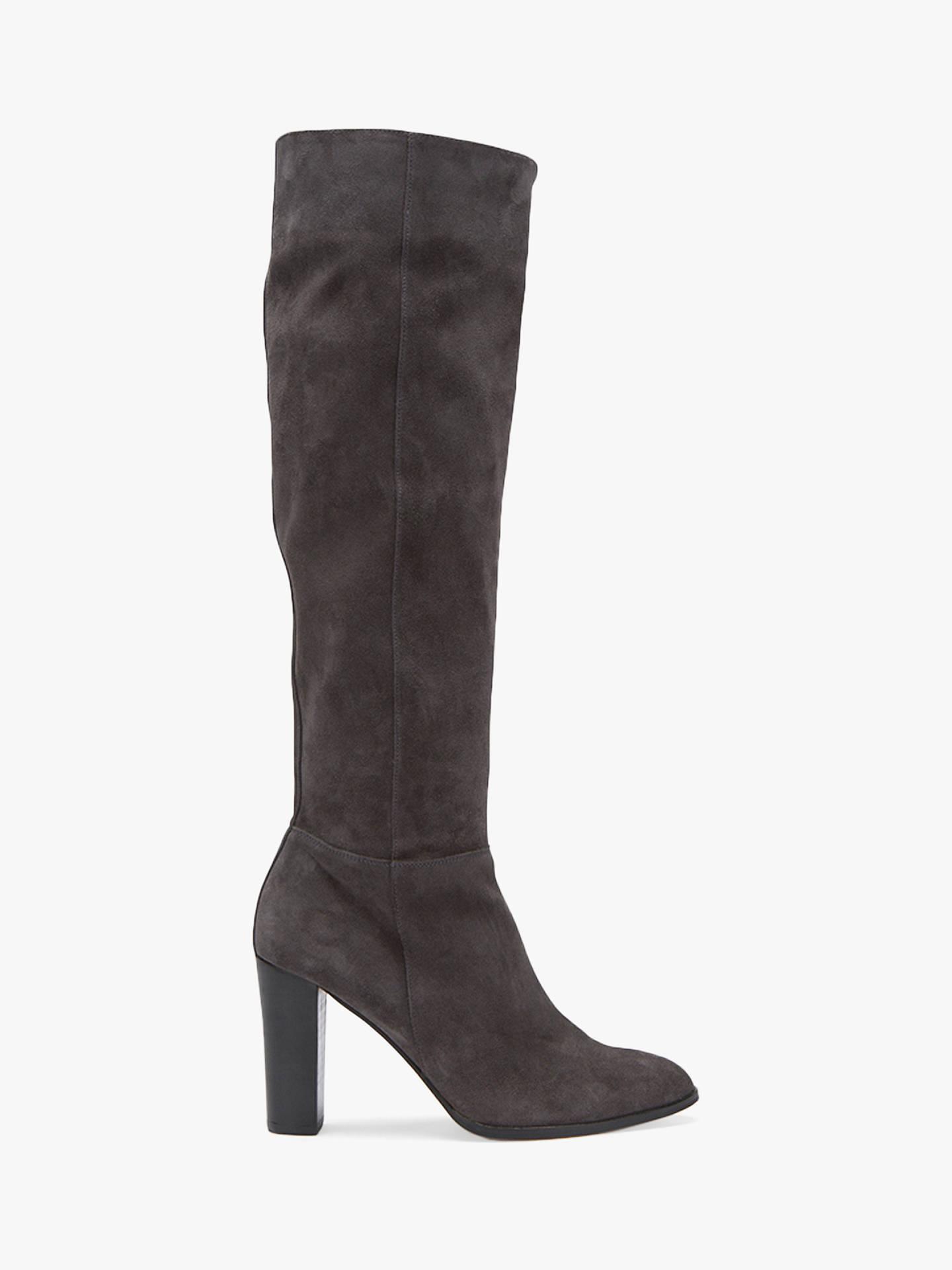d0aa3ab28c7 Mint Velvet Faith Block Heel Knee High Boots at John Lewis & Partners