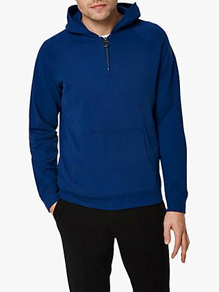 SELECTED HOMME Quarter Zip Hoodie, Navy Peony