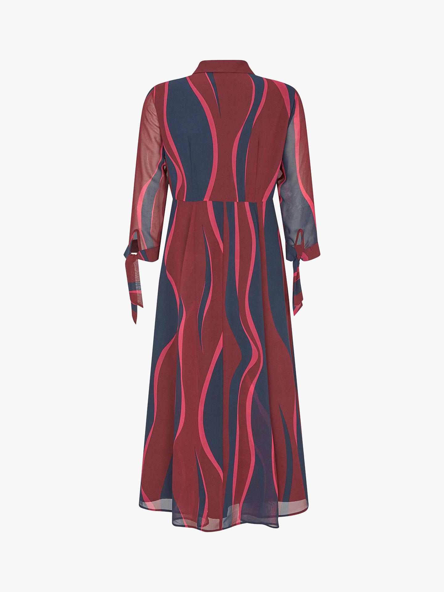 392d50d5932d20 Buy Mint Velvet Ripple Stripe Print Midi Dress, Multi, 6 Online at  johnlewis.
