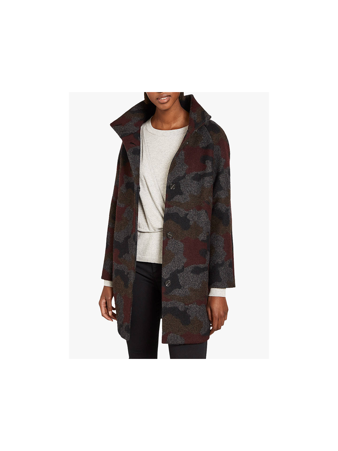 2f42a48a3e20c Buy Mint Velvet Camouflage Trench Coat, Multi, 18 Online at johnlewis.com  ...