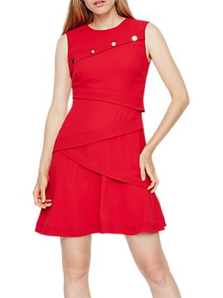 Damsel in a Dress Kalyn Button Detail Dress, Red