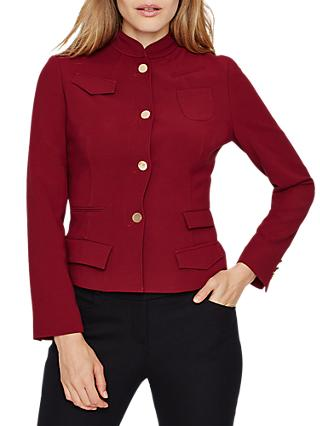 Damsel in a Dress Daria Pocket Jacket, Burgundy