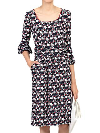 Jolie Moi Balloon Sleeve Dress, Black/Multi