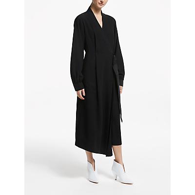 Kin Formal Wrap Utility Dress, Black