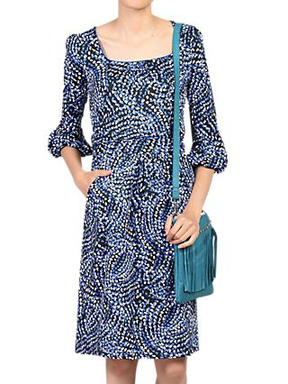 Jolie Moi Balloon Sleeve Dress, Blue/Multi