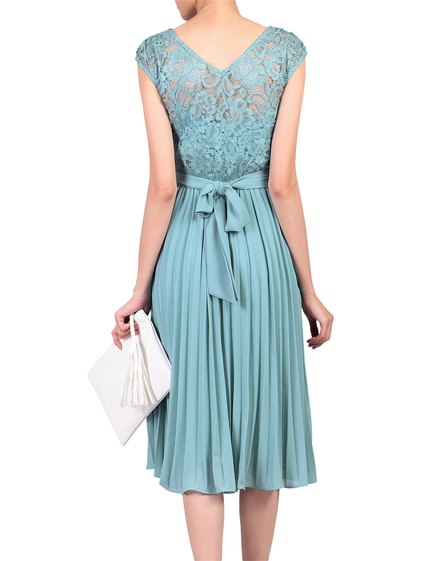Buy Jolie Moi Lace Bodice Pleated Dress, Duck Egg Blue, 16 Online at johnlewis.com