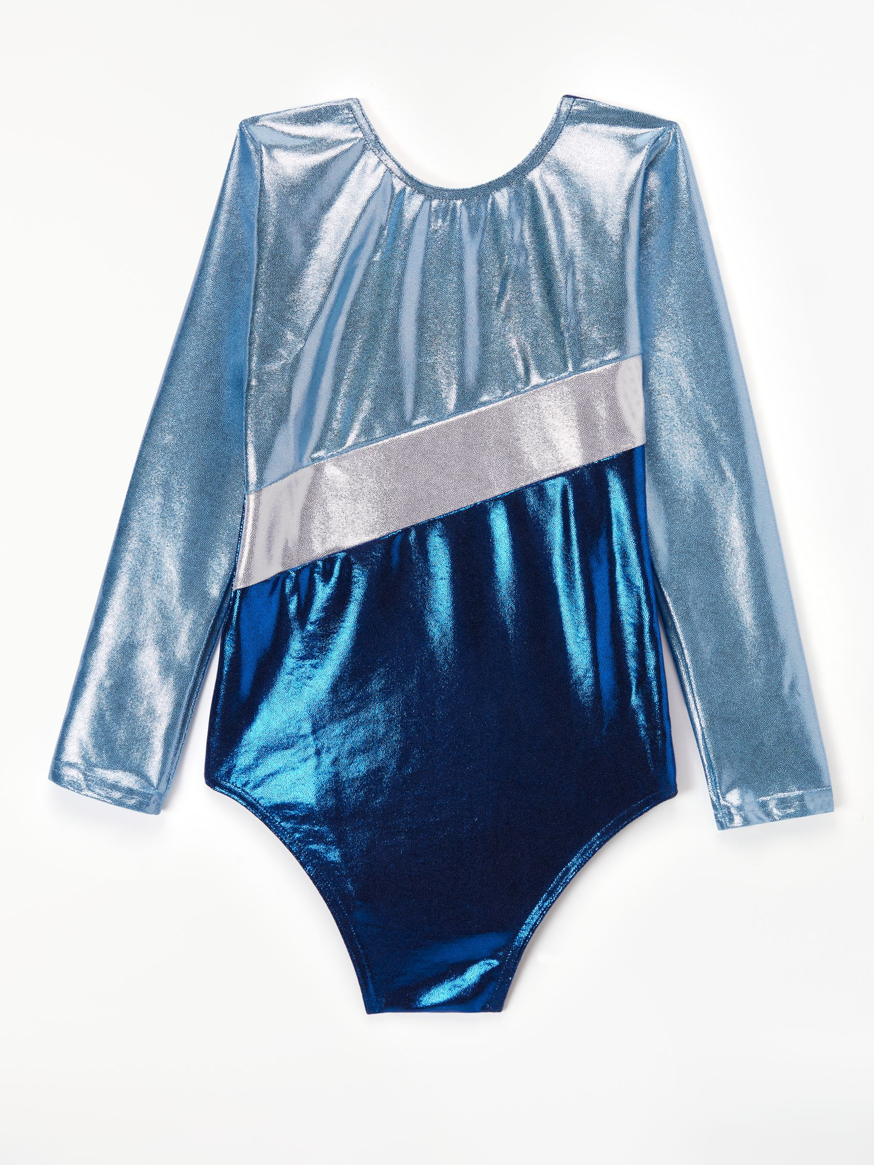 Tappers and Pointers Tappers and Pointers Sparkling Gymnastics Leotard, Navy/Sky/Silver
