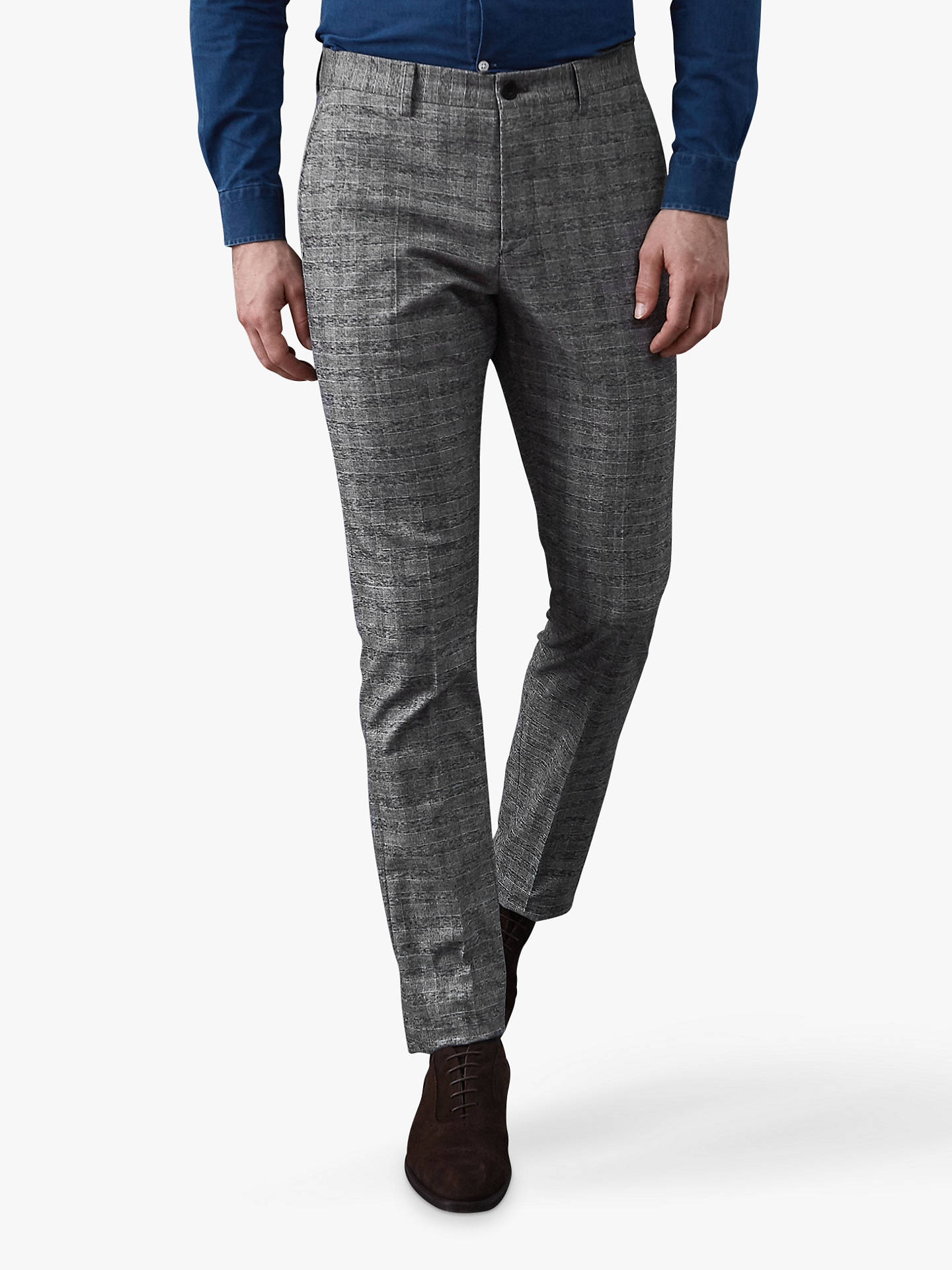 BuyReiss Nano-Slim Fit Prince Trousers, Soft Grey, 36R Online at johnlewis.com