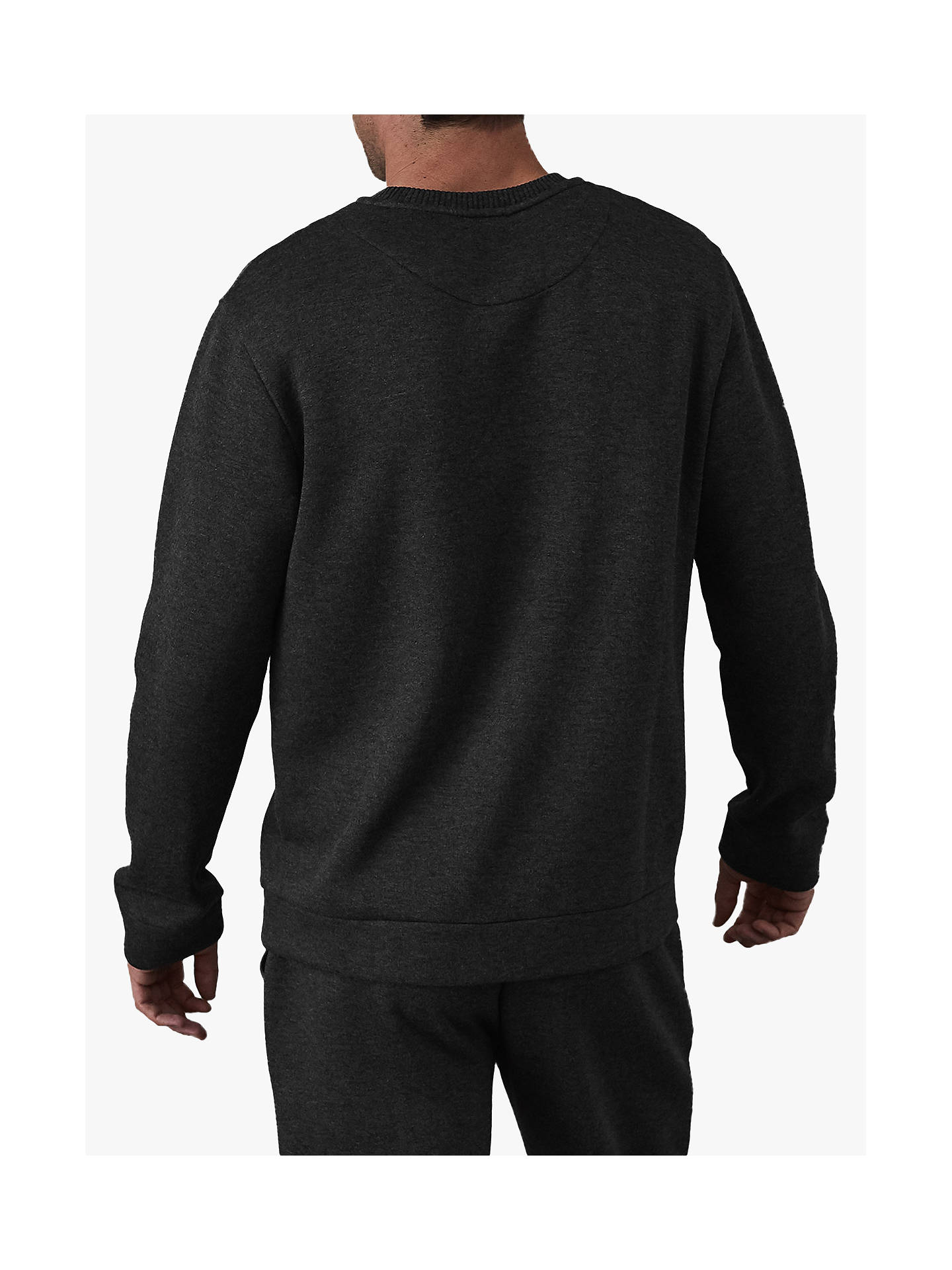 BuyReiss Hatton Knitted Sweatshirt, Charcoal, S Online at johnlewis.com