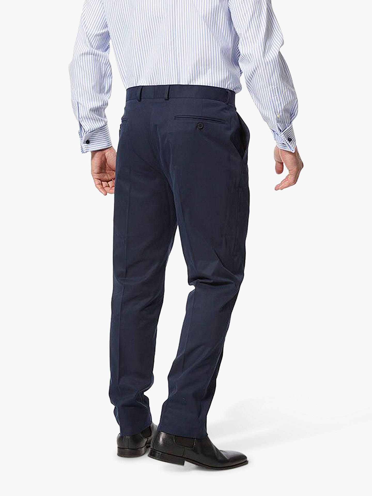 Buy Chester by Chester Barrie Cotton Chinos, Navy, 32R Online at johnlewis.com