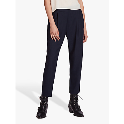Allsaints Aleida Cotton Mix Trousers, Navy