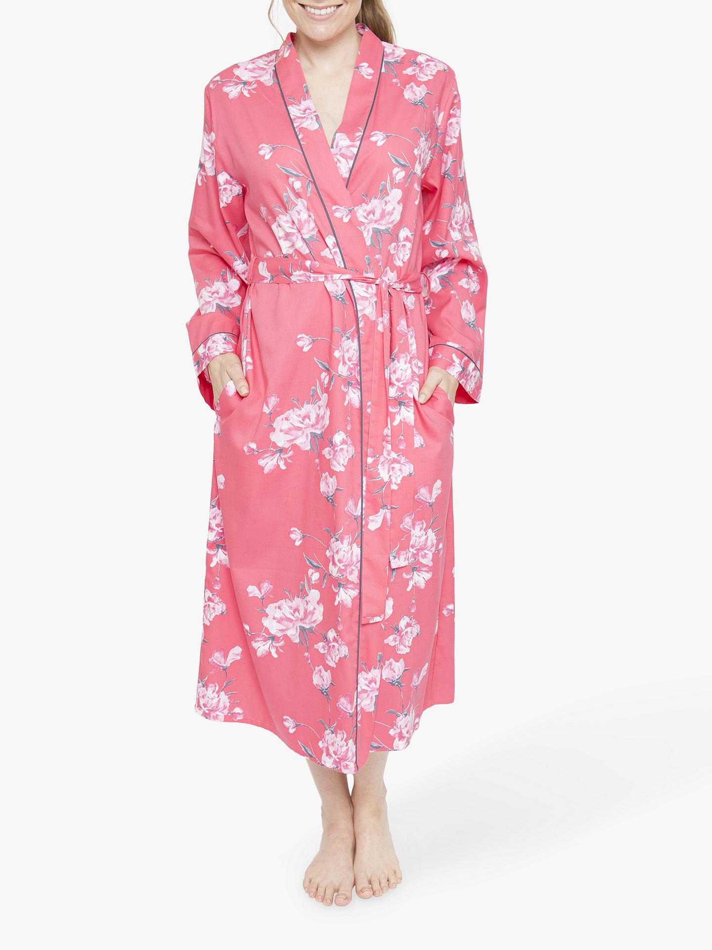 Cyberjammies Chloe Floral Print Dressing Gown Pink At John Lewis