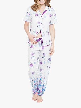 Cyberjammies Andrea Floral Short Sleeve Pyjama Set a16c284fb