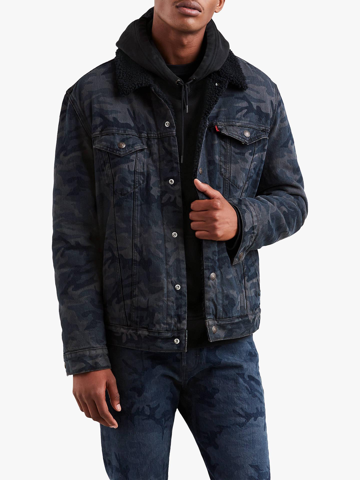 c18d663ab46d0 Buy Levi's x Justin Timberlake Sherpa Camo Trucker Jacket, Black Camo, M  Online at ...