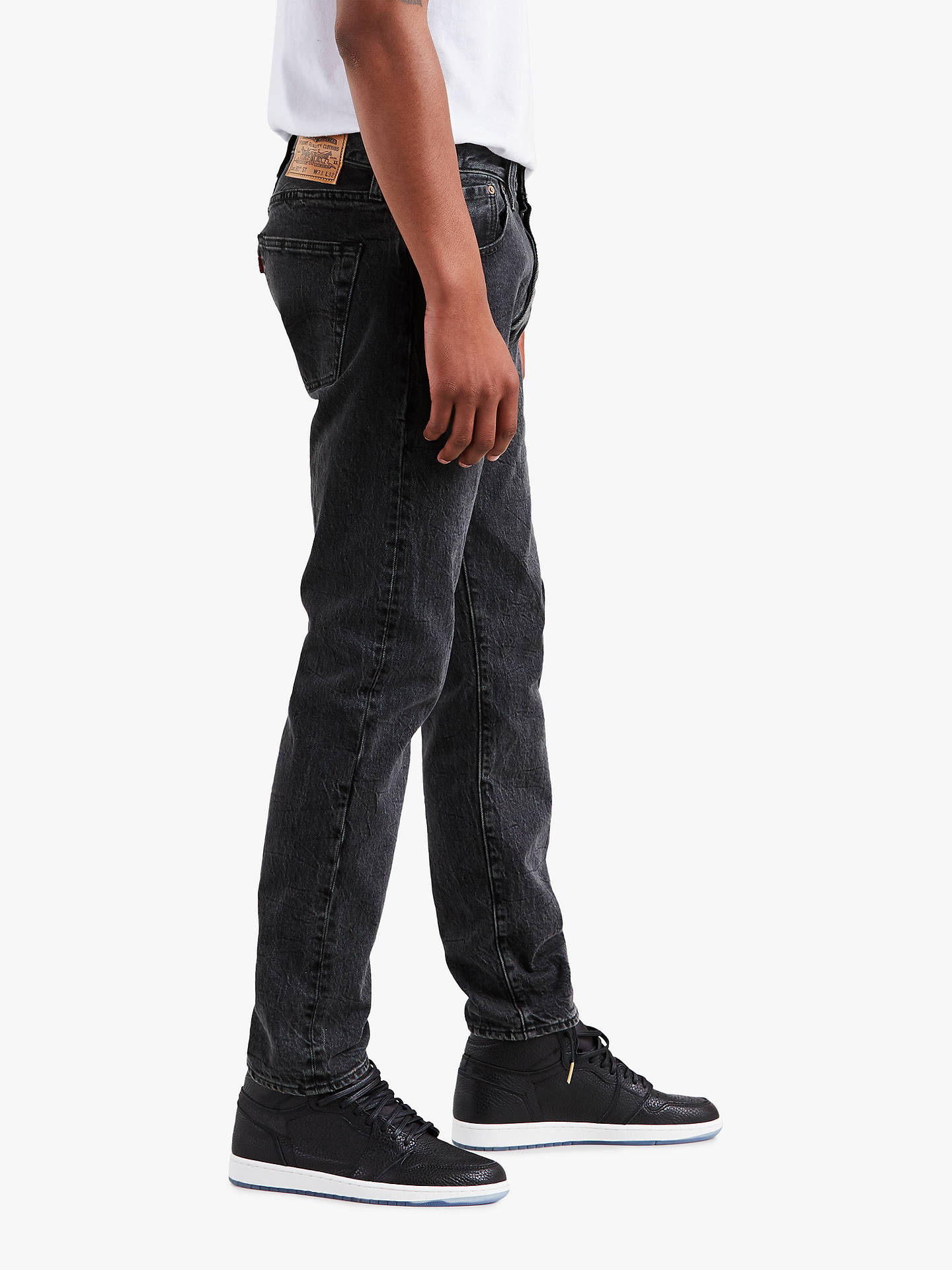 d84b91fe ... Buy Levi's x Justin Timberlake 501 Slim Tapered Fit Jeans, Washed  Black, 30S Online ...
