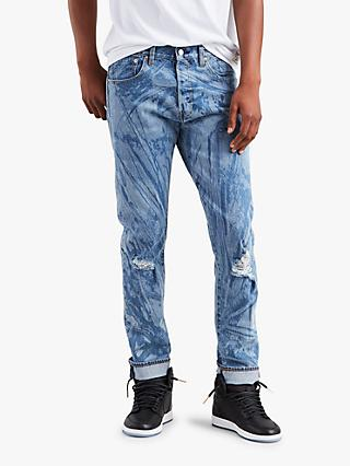 Levi's x Justin Timberlake 501 Slim Tapered Fit Ripped Jeans, Indigo Hunter
