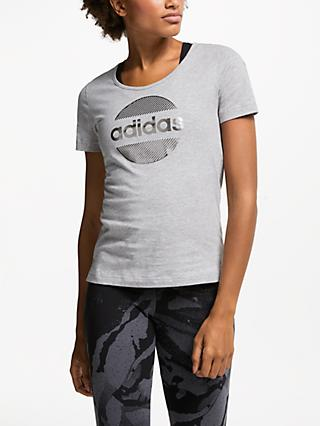 adidas Linear T-Shirt, Grey Heather