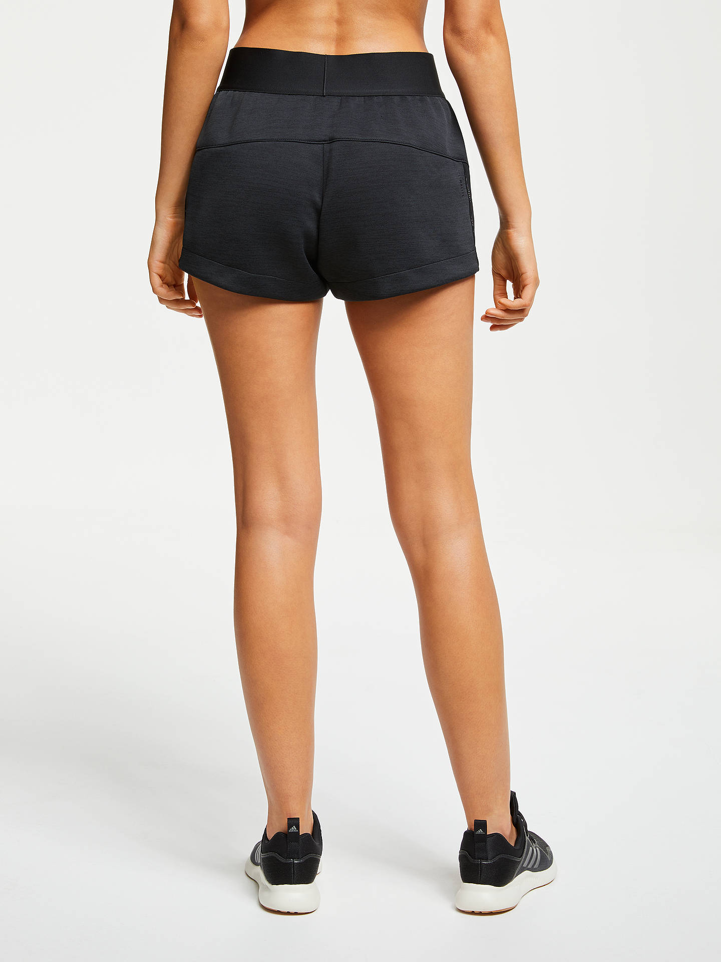 sale retailer 8400a 7335e Buy adidas Z.N.E Training Shorts, ZNE Heather Black, S Online at johnlewis.