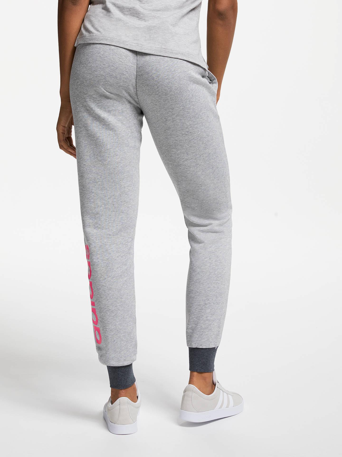 cb8c9673e3cc7 ... Buy adidas Essentials Linear Tracksuit Bottoms, Medium Grey Heather/Prism  Pink, XS Online ...