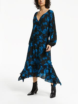 AND/OR Lebon Floral Dress, Navy/Blue