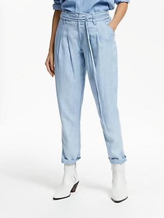 e251aa217 AND/OR Isabel Lyocell Trousers, Pale Blue Wash