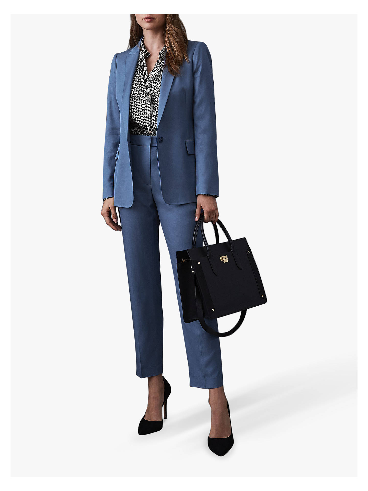 Buy Reiss Etta Tailored Trousers, Marine Blue, 6 Online at johnlewis.com