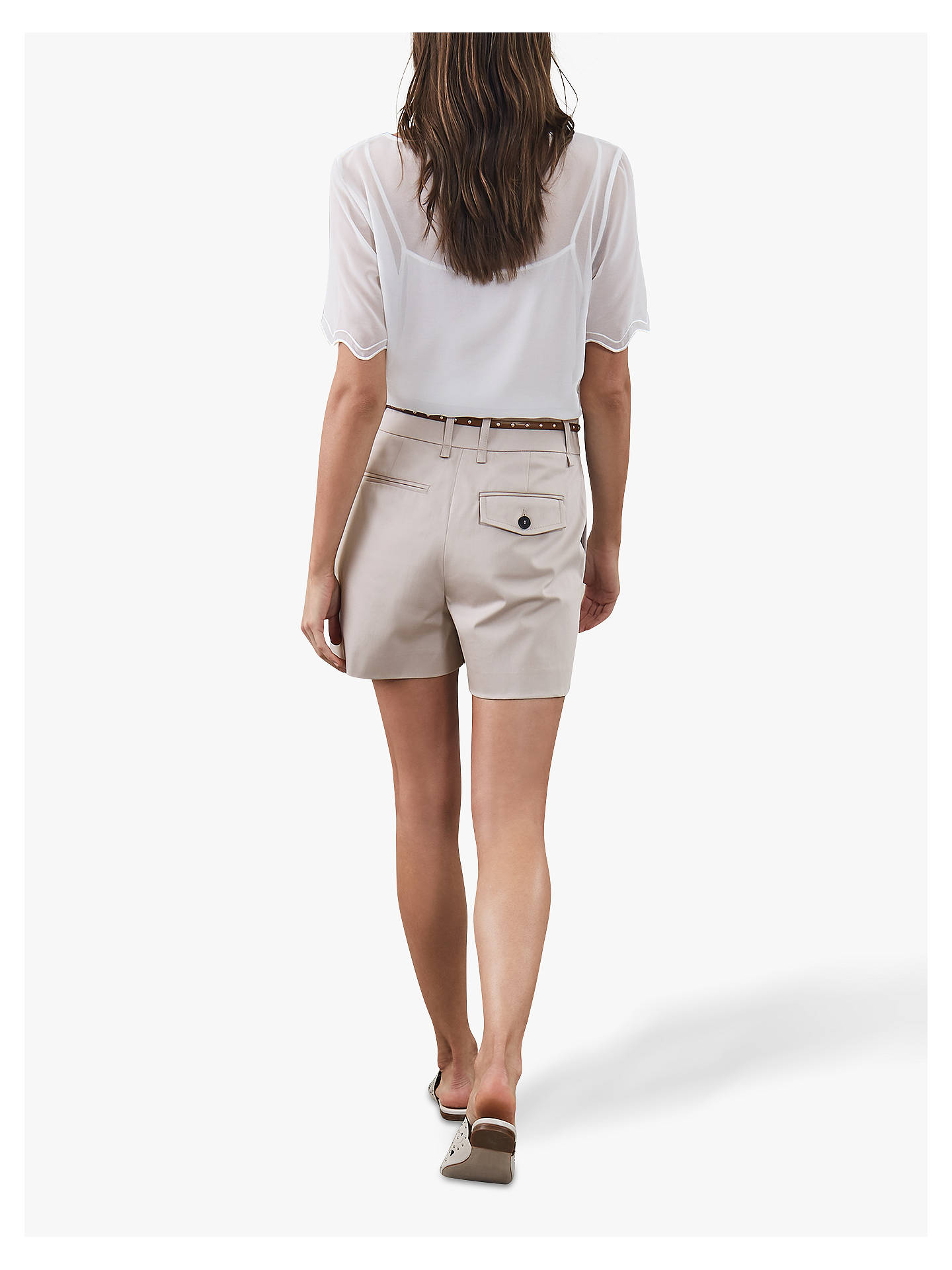 Buy Reiss Ottolie Chino Shorts, Chiffon, 6 Online at johnlewis.com