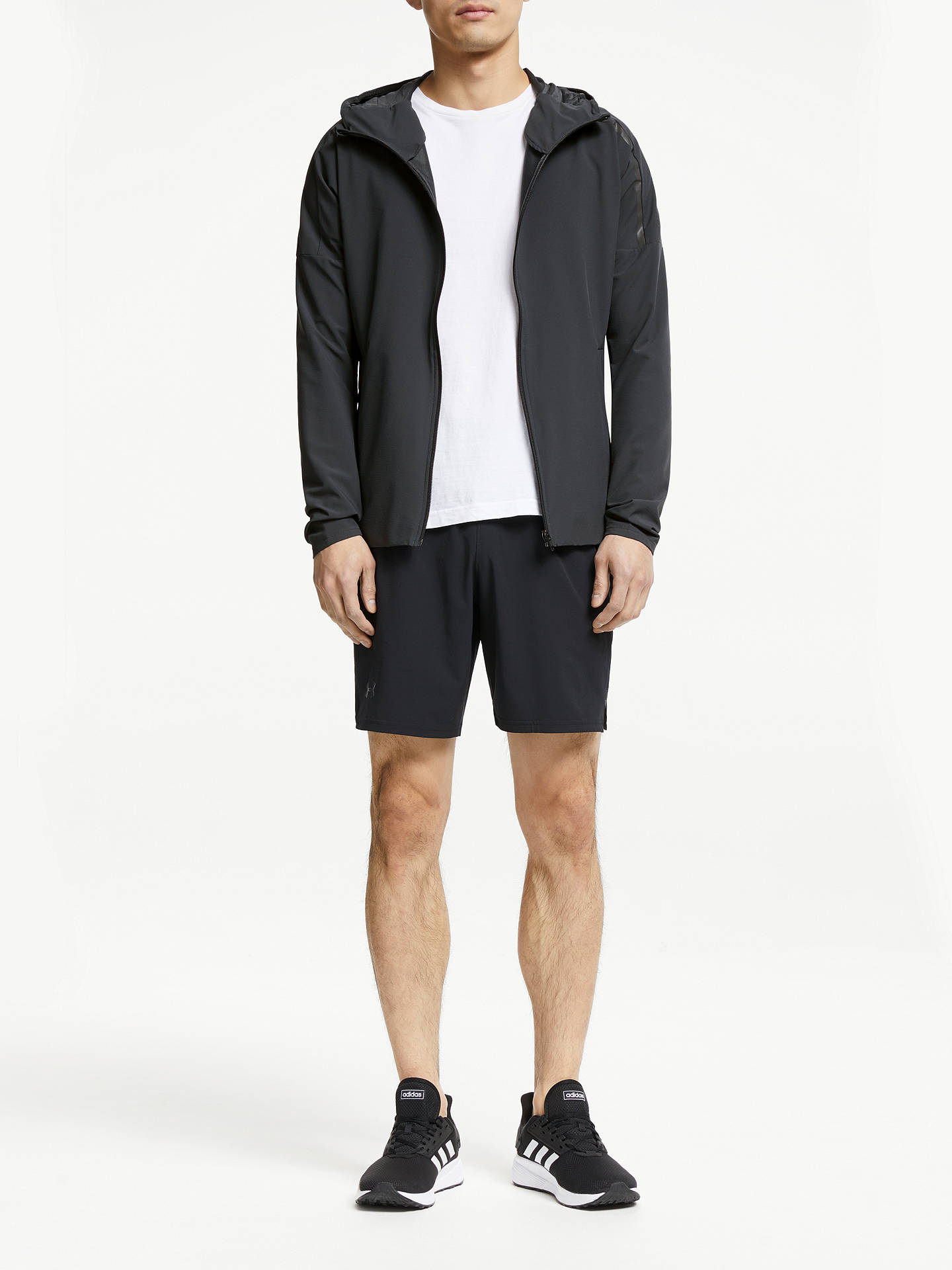 adidas Z.N.E. Men's Running Jacket, Carbon at John Lewis