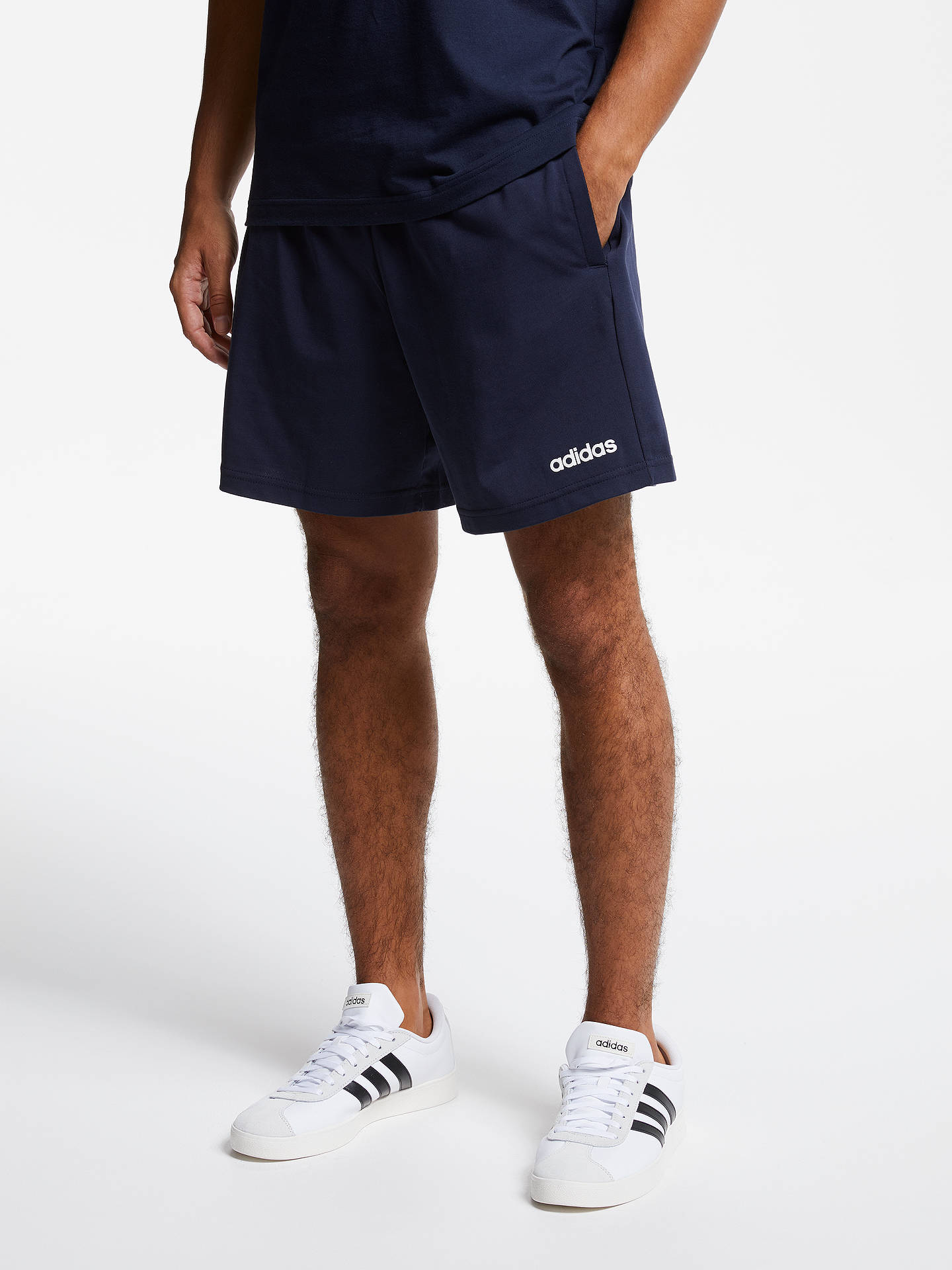 adidas Essentials Plain Single Jersey Shorts, Legend Ink at