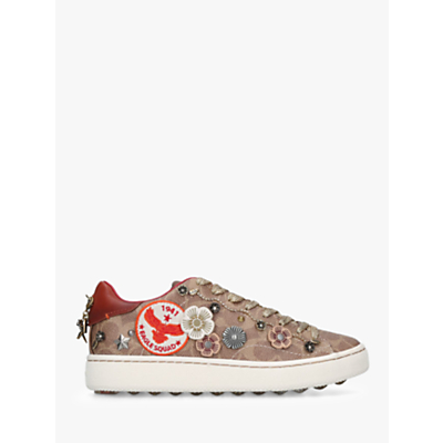 Coach C101 Eagle Lace Up Trainers, Brown/Multi