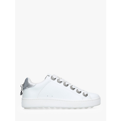 Coach C101 Eyelet Lace Up Trainers, White Leather
