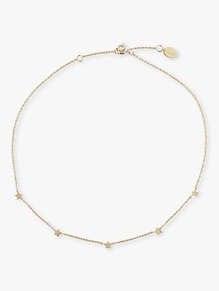 hush Star Choker Necklace, Gold