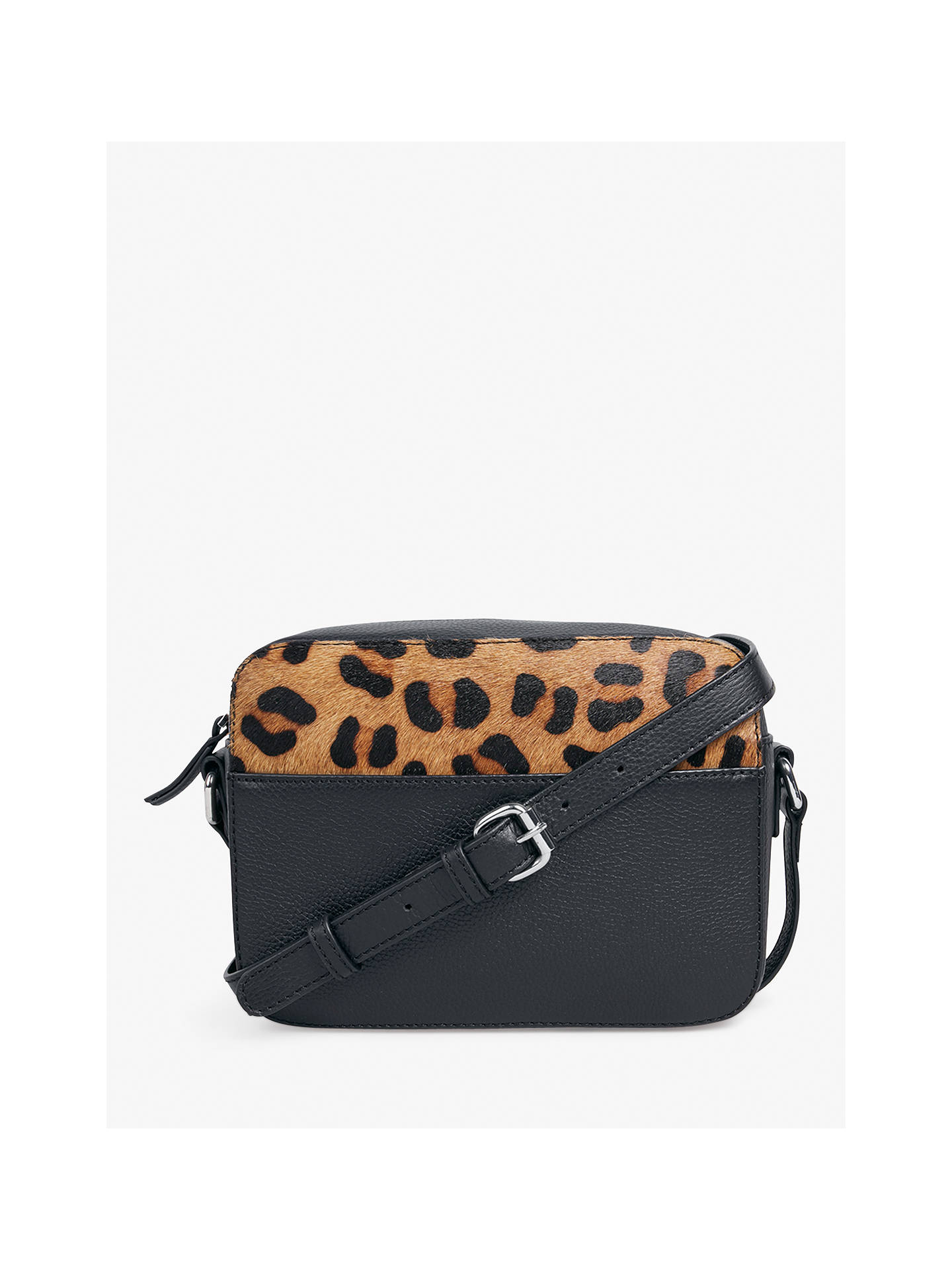 0d0743b5173 hush Flori Cross Body Bag, Black/Leopard Print