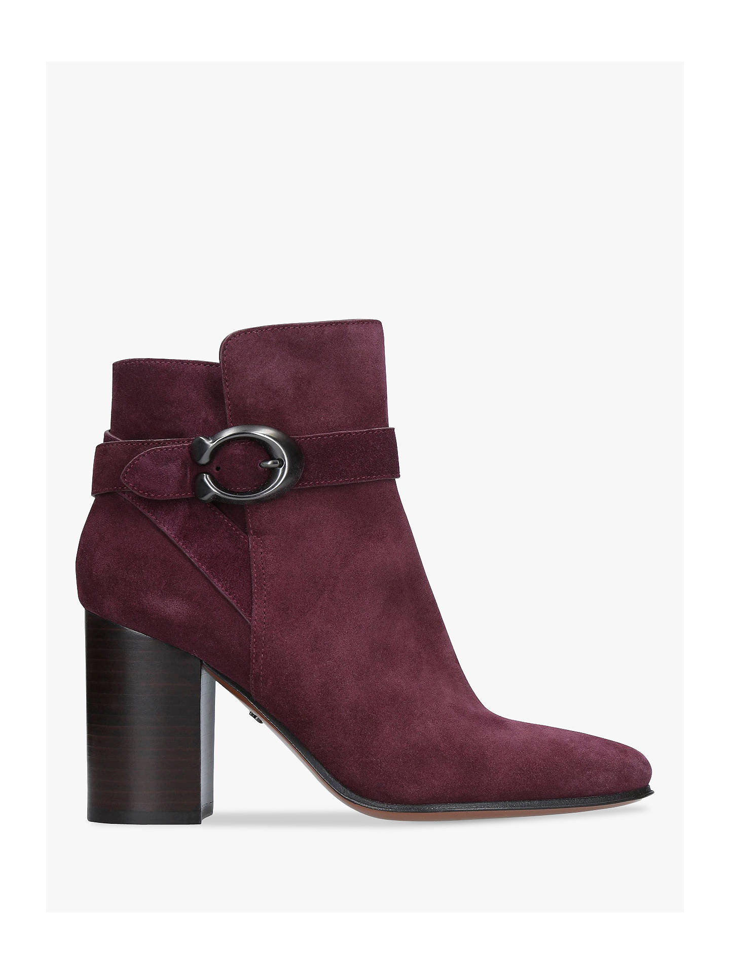 fc583e5ca86b Coach Delaney Buckle Block Heel Ankle Boots at John Lewis   Partners
